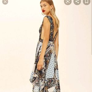 top shop gown ,dress small Paisley printed dress